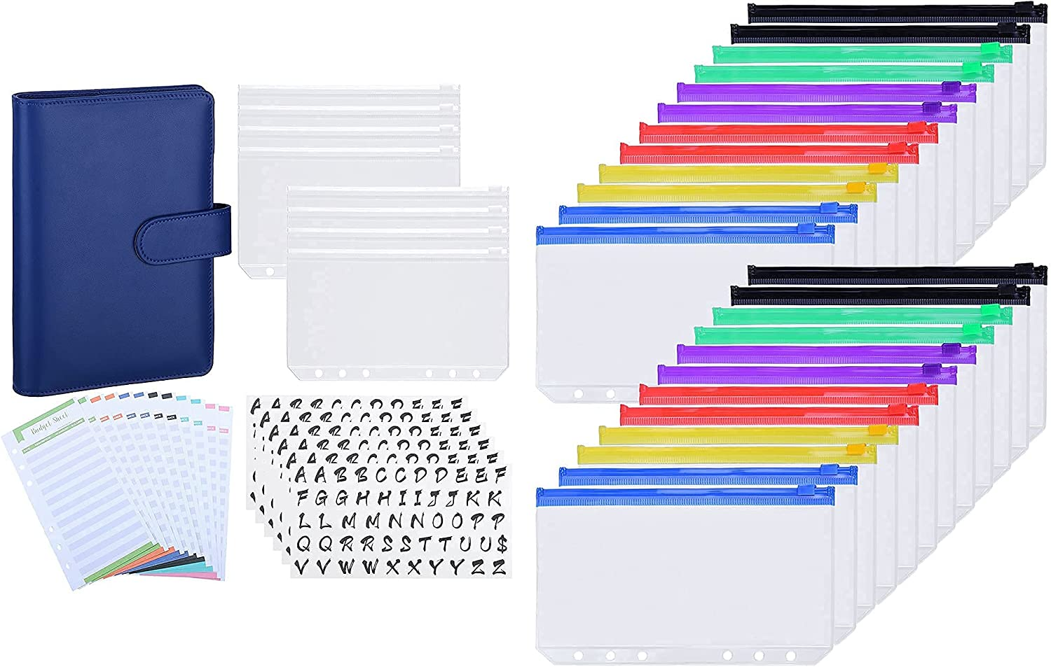 Ndsox A6 Budget Binder System Blue Max 42% OFF Multicolour Max 74% OFF Navy and 24pcs