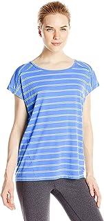 Calvin Klein Performance Women's Micro-Stripe Keyhole-Back T-Shirt