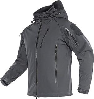 MAGCOMSEN Men's Hooded Winter Jacket 8 Pockets Water &...