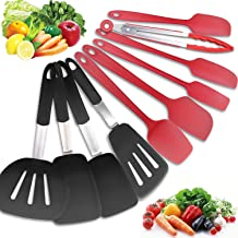 JmeGe Silicone Kitchen Utensils Set 10 PCS Heat Resistant Silicone Cooking Utensils Baking Utensils Silicone Cream Scraper...
