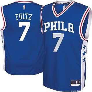 Outerstuff Markelle Fultz Philaelphia 76ers Blue #7 Youth Road Replica Jersey