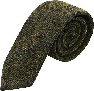 Corbata de Cuadros de Espiguilla Verde Enebro