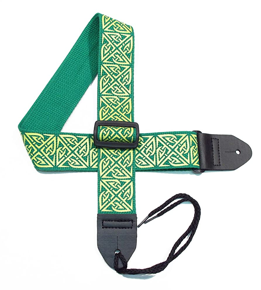 Legacystraps Celtic Knot Guitar Strap with Celtic Chain Design - 2