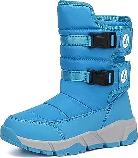 Mishansha Girls Boys Toddler/Little Kid/Big Kid Winter Snow Boots Warm Waterproof Anti-Slip Anti-Collision Hight-Cut for O...