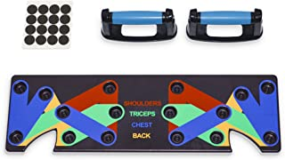 Ultrasport Push Up Board, 9'u 1 arada kol çalıştırıcı, renk kodlamalı çoklu egzersiz aleti, kol/göğüs/omuz, sırt kasları v...