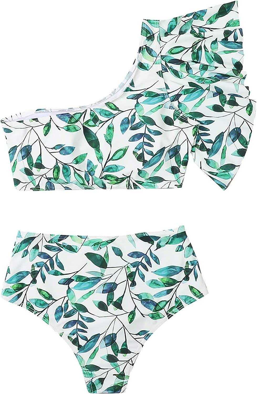 Swimsuits for Women Bikini Two Piece Swimsuit Cute Bathing Suits Beach Halter Swimwear One Shoulder Swimsuits