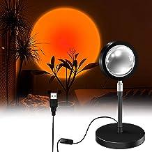 Zonsondergang Projectielamp LED Nachtlampje, USB 180 Graden Roteren Sfeer Vloer Stand Licht, Romantisch Modern Zonsonderga...