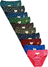 JIL Delux Womens Brief/Hipster 100% Cotton Ladies Printed Multi Color Panty Inner wear Combo Pack of 5 and 10 Offer