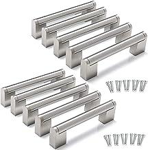 Yorbay 10 Packs Kabinet Handvatten Keuken Kast Handgrepen Geborsteld Rvs Meubels Deurlade Knop T Bar trekt Zilver Herbruik...