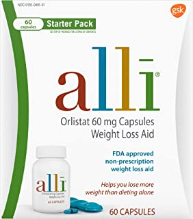alli Weight Loss Aid Diet Pills, 60mg Starter Pack, 60 Count