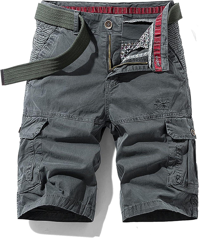 Zhang Q Spring Men Cotton Cargo Shorts Clothing Summer Casual Breeches Bermuda Fashion Beach Pants Los Cortos Short-Gray3-31