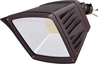 LEONLITE LED Outdoor Flood Light with Knuckle Mount, 40W (350W Eqv.), 4800lm Super Bright Wall Washer Security Light, IP65 Waterproof, 5000K Daylight, for Yard/Parking Lot/Advertising Board