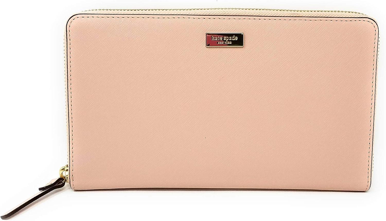Kate Spade aurel Way Kaden Leather Travel Wallet (Warm Vellum)