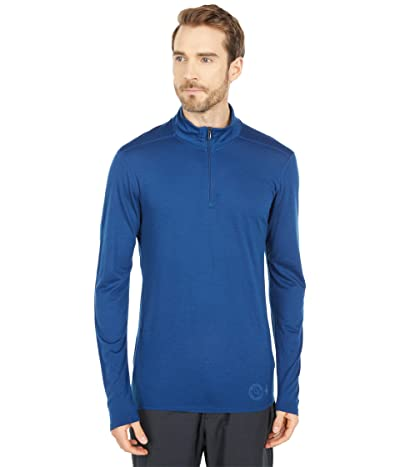 Smartwool Merino 150 Base Layer 1/4 Zip (Indigo Blue) Men