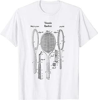 Vintage Tennis Racket Blueprint Shirt - Court Shoes Racquet
