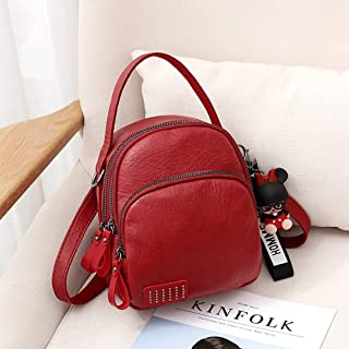 Tong Soft Leather Shoulder Bag, Versatile Fashion, Small Fresh, Simple and Casual, Light and Suitable for Shopping Everyday (Color : Red)