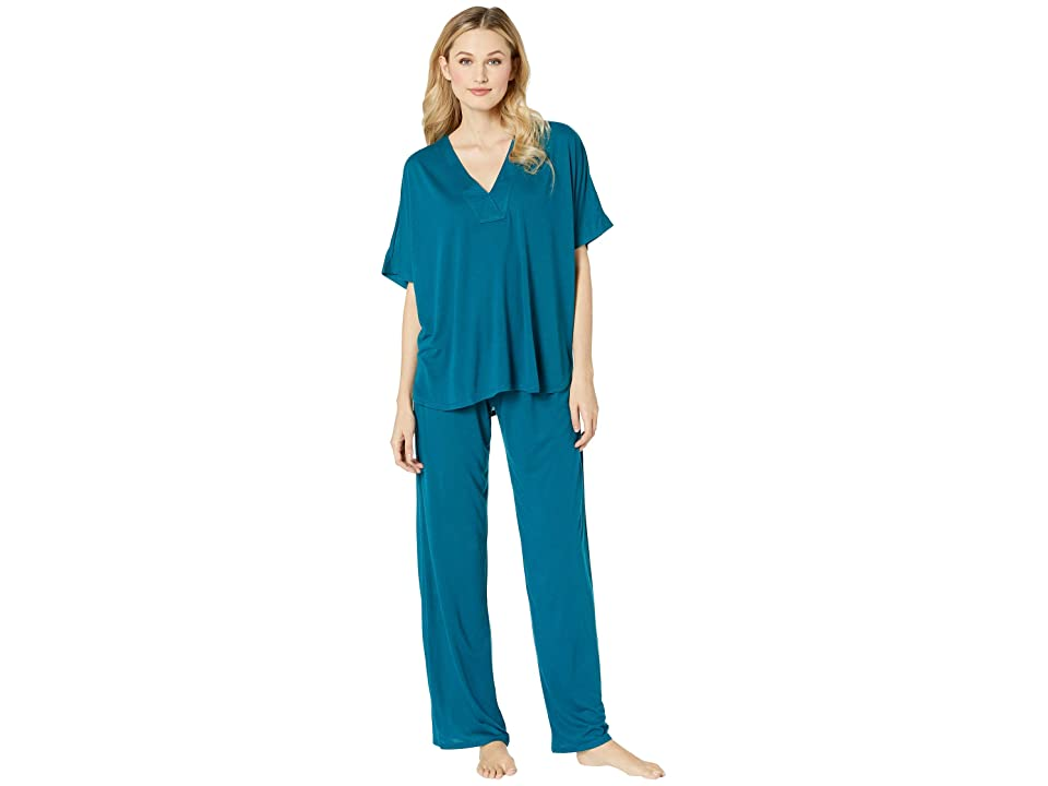 N by Natori Congo PJ Set (Midnight Teal) Women