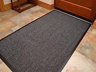 Heavy Duty Barrier Mat Indoor and Outdoor Kitchen Hallway Door Mat Rug Machine Washable Back Door Entrance Non Slip Traps ...