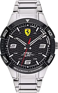 Ferrari Unisex-Adult Quartz Watch, Analog Display and Stainless Steel Strap 830641