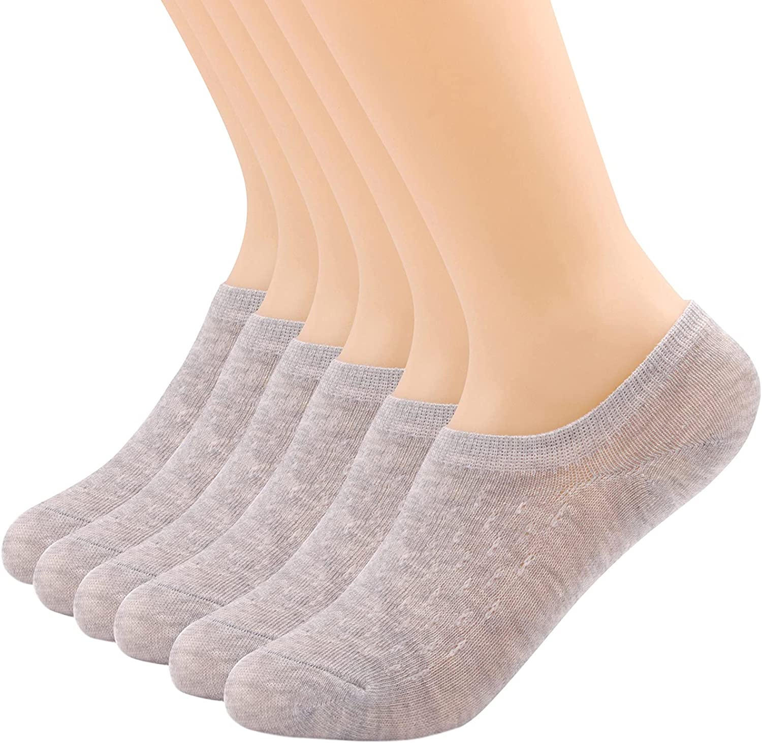 YOSENDE Womens No Show Socks Low Cut Ankle Invisible Thin Breathable Casual, 6 Pairs