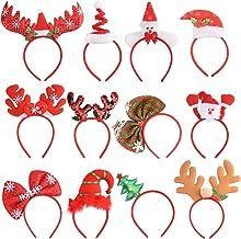 Losuya Christmas Headband Xmas Themed Hairband Kids Adults Headwear Christmas Party Decorations 6 Pieces