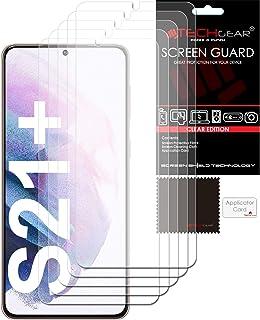 TECHGEAR Skärmskydd [5-pack] kompatibel med Samsung Galaxy S21 Plus/S21+ 5G, klar LCD-skärmskydd skyddsskydd