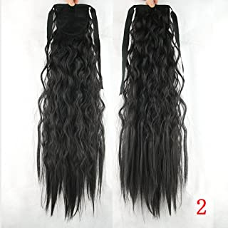10 Colors Kinky Curly Ponytails High Temperature Fiber Pony Tail Hairpiece Synthetic Hair Extensions For Black Women #2 22inches
