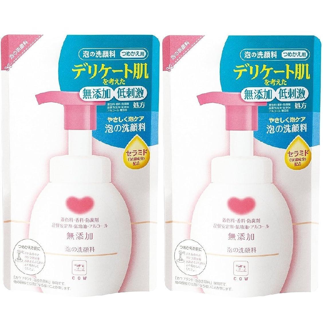 鏡疑問に思う発明カウブランド 無添加 泡の洗顔料 詰替用 2個組 (180mL×2個)