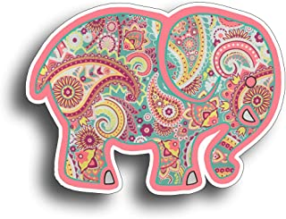 215 Decals, Graphics, Skins & Stickers Elephant Sticker Pink Paisley Vinyl Automotive Car Truck Vehicle Die Cut Decal Indoor & Outdoor Use