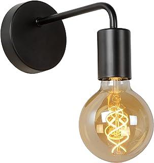 compatible LED avec interrupteur int/égr/é spots retro-modernes orientables pour 2 ampoules E14 max 40 Watt id/éal dans un salon contemporain Applique murale Lengalau en bois et m/étal noir