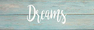 Any and All Graphics Dreams Family Living Two Panel Teal Colored Pallet Style Solid Wood Home décor Sign