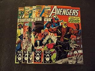 6 Iss Avengers #331-336 Copper Age Marvel Comics