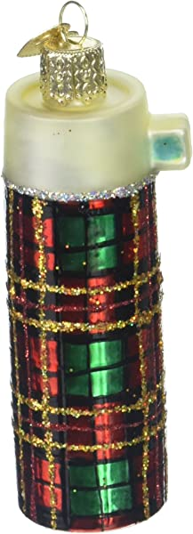 Old World Christmas Ornaments Retro Thermos Glass Blown Ornaments For Christmas Tree