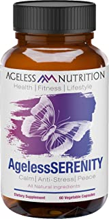 Sponsored Ad - Ageless Nutrition: AgelessSERENITY - Natural Stress Relief with Calming Valerian Root, Chamomile, L-Theanin...