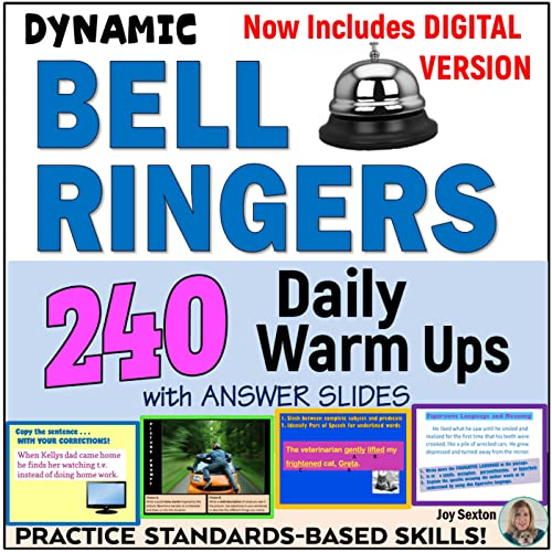 commercial Ringtone – 240 Daily Workouts with Answer Slides – Digital Version of Google Classroom… slide warmers