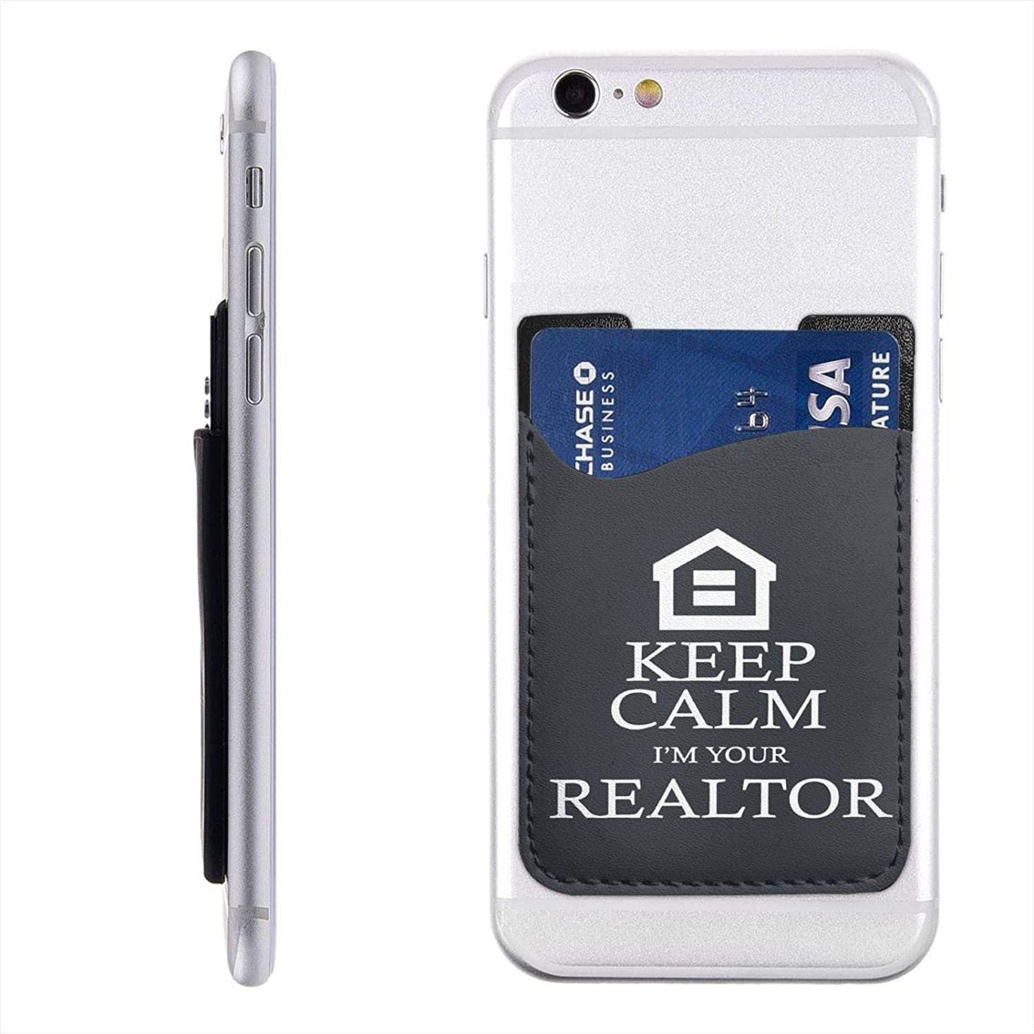 I'm Your Realtor Leather Phone Card Holder Stick On Wallet for Back of Phone