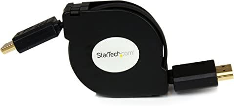 StarTech.com 4 ft Retractable High Speed HDMI Cable with Ethernet - HDMI to HDMI (HDAARET4)