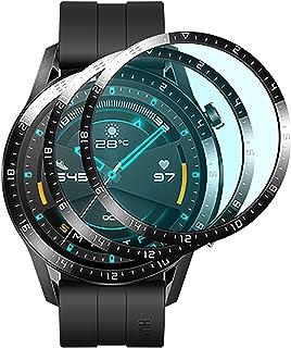 GIOPUEY [2 Pack] Skärmskydd Kompatibelt med Honor Magic Watch 2 46MM, [Full Täckning]Ultratunn HD-Kompositskyddsfilm, Rept...