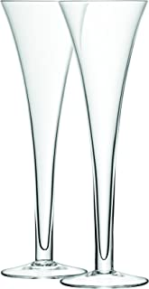LSA International Bar Hollow Stem Flute (2 Pack), 6.7 fl. oz., Clear