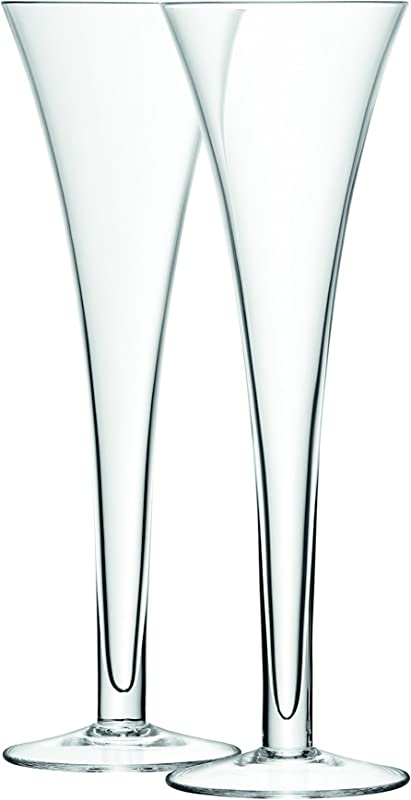 LSA International Bar Hollow Stem Flute 2 Pack 6 7 Fl Oz Clear