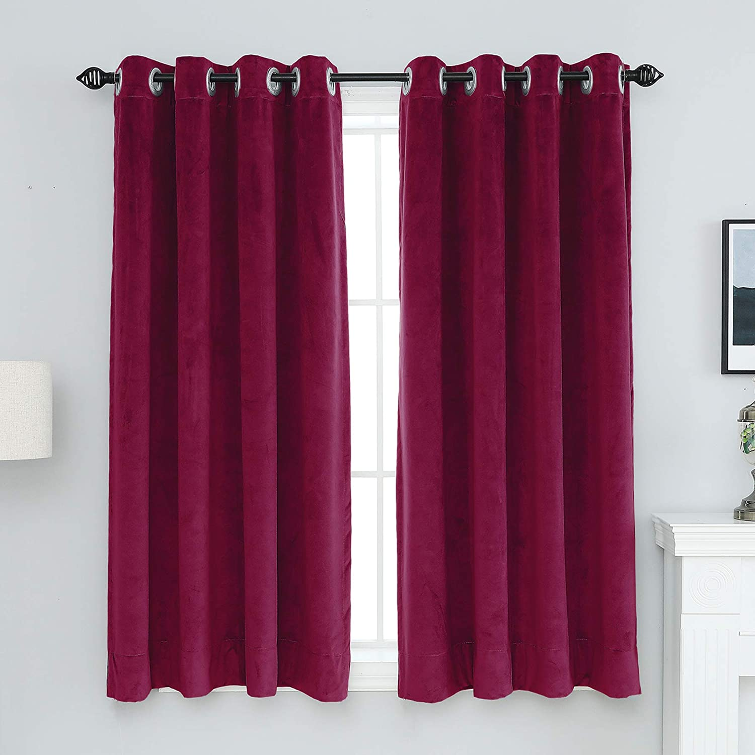 XIANYU 100% Blackout Curtains for Living 卸直営 Room Thermal 超定番 Bedroom In