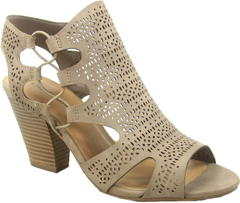 City Classified Zuka-s Women's Fashion Summer Sexy Open Toe Chunky Heel Sandals shoes