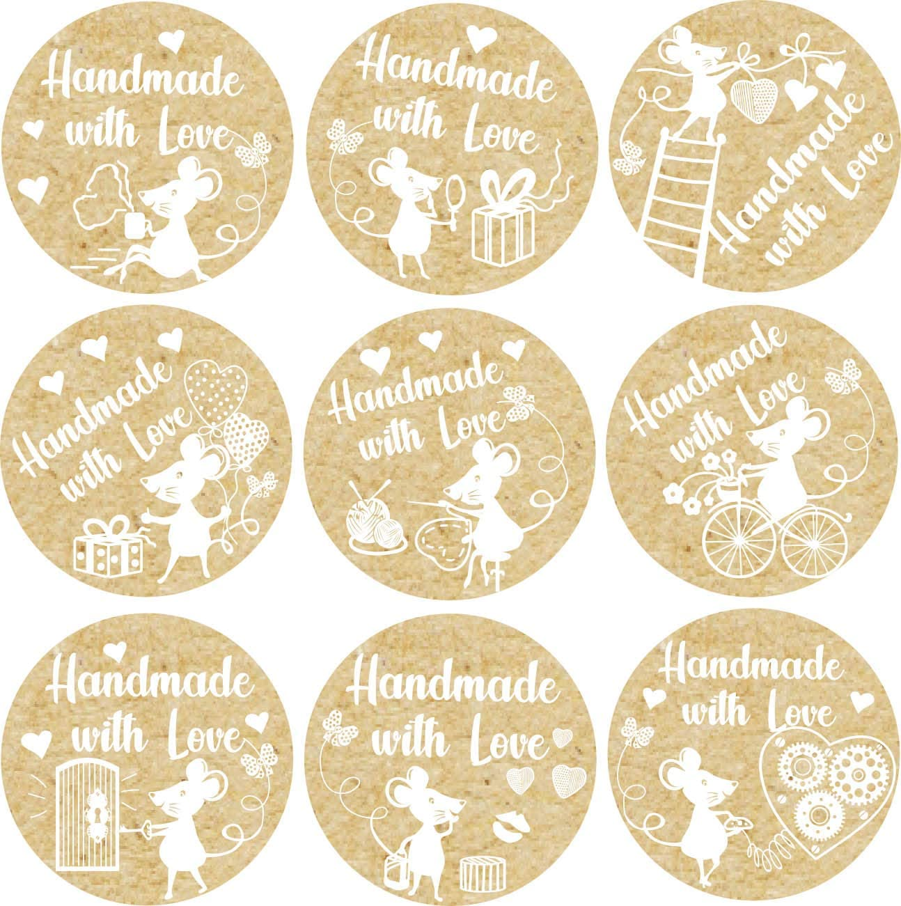 GlossTrick Animal Reward Stickers for Kids and Toddler Farm Sticker for Elementary School Teachers and Doctor Zoo Animals Labels for Celebrate Birthday Pack 200 in Roll Bulk