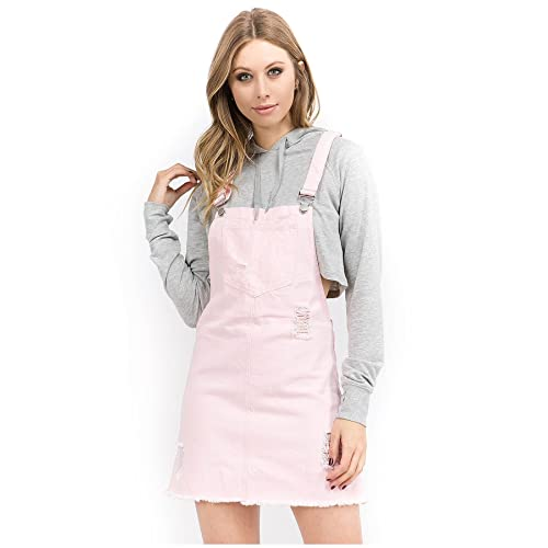 720ad5324c5 TwiinSisters Women s Casual Denim Destroyed Overall Dress for Women Plus