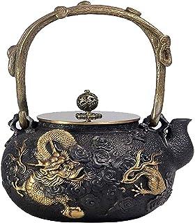 Yongqin Japanese Style Cast Iron Teapot With Infuser 1.2L Teapot Tea Kettle Tea Pot Handmade Tea Kettle Cast Iron Teapot C...