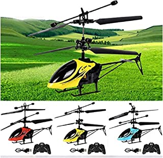 LEANO RC Helicopter 2 Channel Mini Remote Control Helicopter Model Toy with LED Light Helicopters