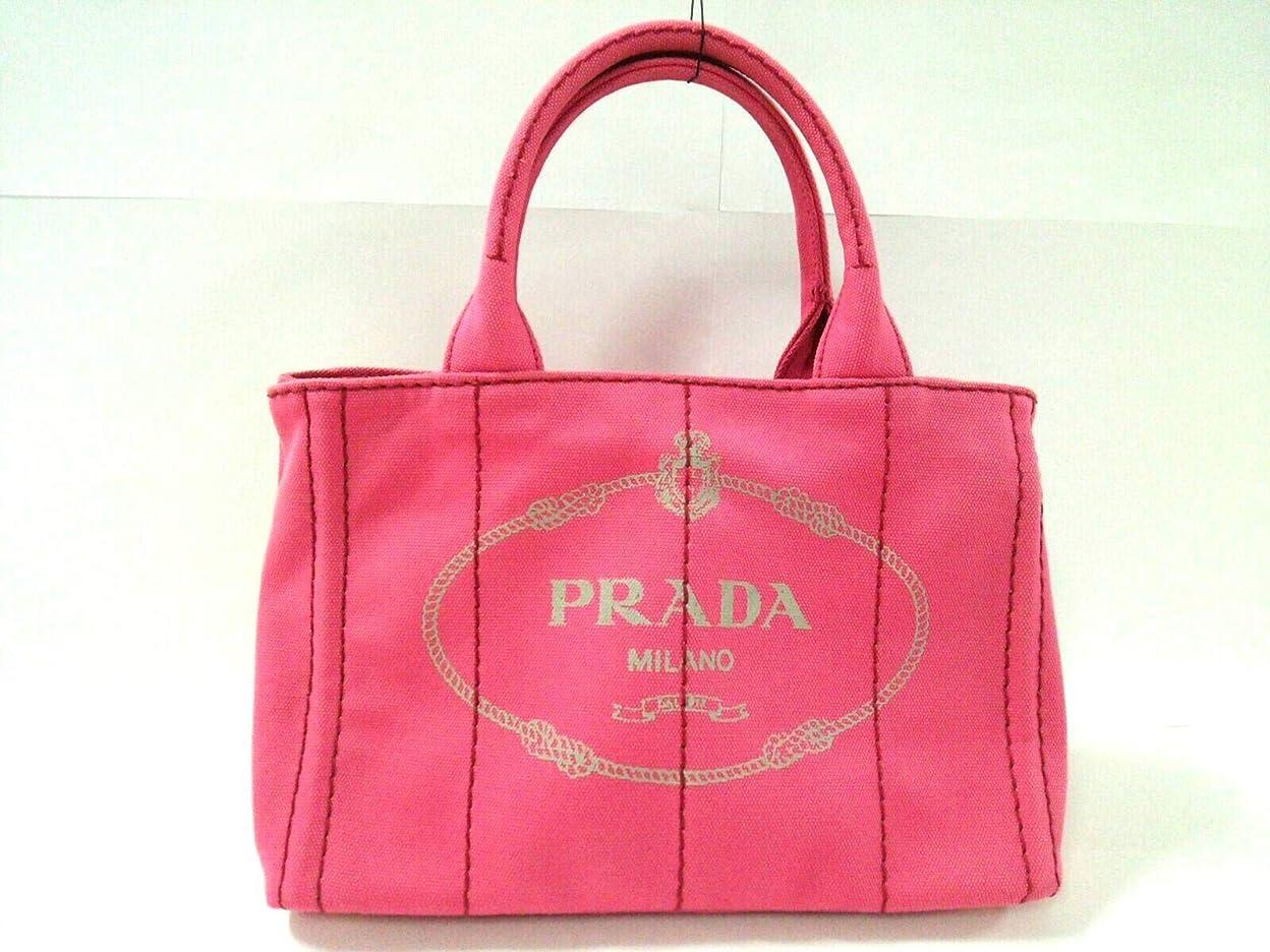 繕う起業家吹きさらし(プラダ)PRADA トートバッグ CANAPA ピンク B2439G 【中古】