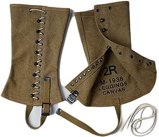 WWII WW2 US Army M-1938 Military Uniform Accessories canvas Leggings Replica