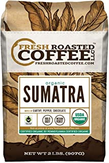 FTO Sumatra Coffee, Whole Bean, Fresh Roasted Coffee LLC (2 Lb.)