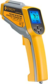 Best Etekcity Infrared Thermometer 1025D (Not for Human) Dual Laser Temperature Gun-58℉~1022℉ (-50℃~550℃) with Adjustable Emissivity, Non-Contact Voltage Tester (NCV), Standard Size, Yellow & Gray Review